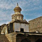 Gomukh temple, Lonar lake, entrance of wildlife sanctuary, entréé de la réserve naturelle, wildlife sanctuary