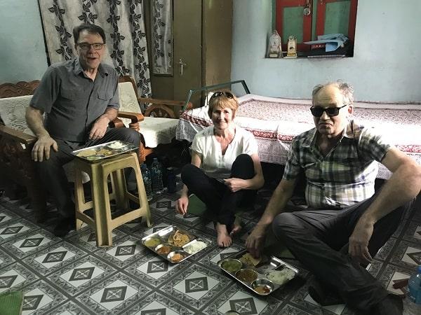 repas à charthana, lunch at charthana